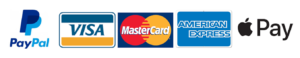 Apple Pay, Paypal, Visa, Mastercard, Amnerican Express